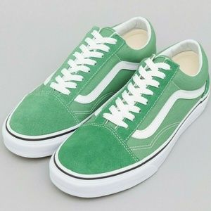 Vans OLD SKOOL Skate Shoes WOMENS Deep Grass Green